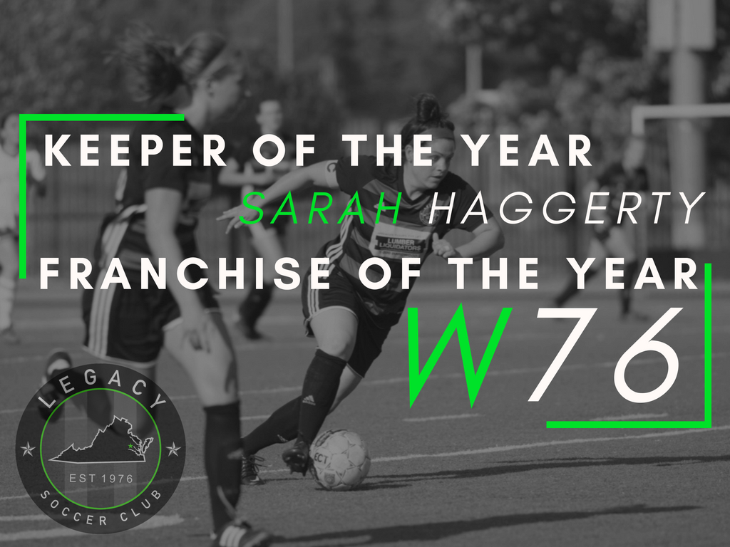 LEGACY W76 EARNS WPSL HONORS